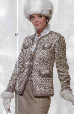 Gancho chaqueta estilo Chanel