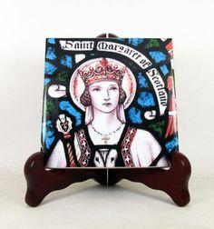 Guarda questo articolo nel mio negozio Etsy https://www.etsy.com/it/listing/505773702/st-margaret-of-scotland-catholic-saints