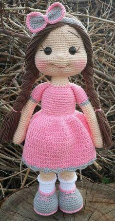Amigurumi Crochet Bart And Lisa Simpson Free Patterns - kahve Crochet Bunny Pattern, Crochet Dolls Free Patterns, Easy Knitting Patterns, Amigurumi Patterns, Amigurumi Doll, Crochet Toys, Free Crochet, Crochet Doll Tutorial, Knitted Cat