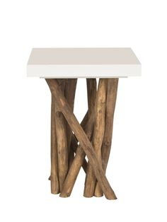 Hatrwick Side Table from Natural Home: Rattan, Linen & Cotton on Gilt