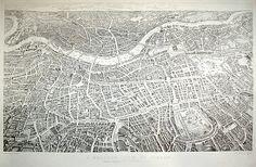 Balloon View of London, 1851.