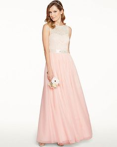 Sparkle Mesh Sleeveless Gown