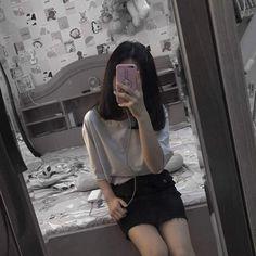 Mode Ulzzang, Ulzzang Korean Girl, Cute Girl Photo, Girl Photo Poses, Korean Aesthetic, Aesthetic Girl, Aesthetic Photo, Ulzzang Fashion, Korean Fashion