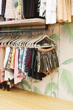 Shop Interior | Beige Velvet/Flocked Hangers
