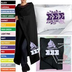 Sorority Cheetah Pillowcase/ Blanket Package