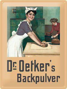 Produktbild Nostalgic Art Blechschild Dr. Oetker Bäckerin, 30 x 40 cm