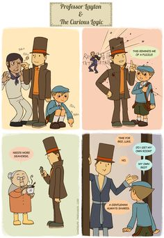professor layton is honestly cracked. I love professor Layton but this is so true and I'm dying