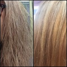 before and after deep conditioning