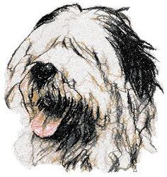 Advanced Embroidery Designs - Old English Sheepdog - Bobtail