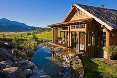 Creek right outside your dining room?  SBC Builders, Bozeman, Montana