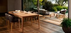 Mood table with chairs + Mood sofa and lounge chair by tribu