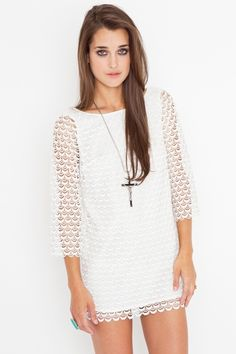getting this. white lace dress