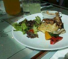 Chicken steak w/ brown sauce & mashed potato YUMMY