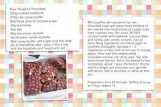 Raw hazelnut chocolate