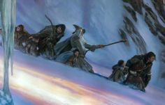 """juliedillon:  """"The Fellowship of the Ring - Descent from Caradhras"""" by Donato Giancola"""
