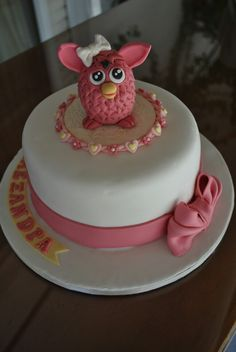 Furby cake for Alexandra who loves furby.