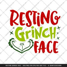 """Featured here is our scalable vector graphic (SVG) file, """"Resting Grinch Face"""".This is a digital file only and is perfect for any vinyl cutter. This is an instant download and available upon purchase. You will receive a zip folder that will need to be unzipped.  Full details can be found below."""