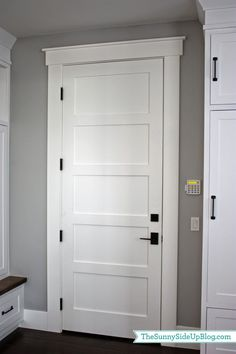 Interior House Doors Mudroom Q A Hardware Farmhouse Trim Farmhouse Interior Doors, Interior Door Trim, Farmhouse Trim, Interior Door Styles, Farmhouse Style, Modern Farmhouse, Modern Interior Doors, 3 Panel Interior Doors, 5 Panel Doors