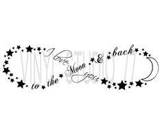 Te amo para el signo de infinito luna trasera & por vinylstudio77