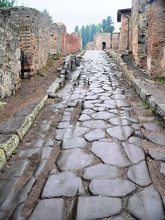 Pompeii, Italy (my own photo). UNESCO World Heritage Site. Along with Herculaneum, Pompeii was partially destroyed and buried under 4 to 6 m (13 to 20 ft) of ash and pumice in the eruption of Mount Vesuvius in AD 79, and it was lost for nearly 1700 years before its accidental rediscovery in 1749. Since then, its excavation has provided an extraordinarily detailed insight into the life of a city during the Pax Romana.