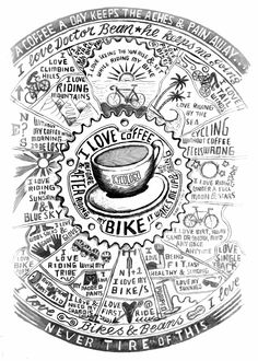 I started drawing my coffee....and it kept going, and going. It was the caffeine did it. Pencil on paper, love fest. :)