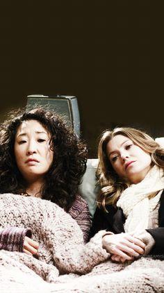 """Meredith Grey and Cristina Yang """"Twisted Sisters"""" Grey's Anatomy lockscreen"""