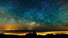 The Milky Way Galaxy over El Teide in Spain