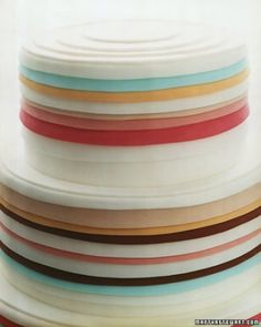 The best striped wedding decor ideas, from the aisle you walk down to the dance floor you spend the night on. Check out these details that boast stripes of all sizes and colors. Gorgeous Cakes, Pretty Cakes, Cute Cakes, Amazing Cakes, Striped Cake, Naked Cakes, Striped Wedding, Gateaux Cake, Colorful Cakes