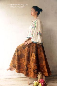 Batik Amarillis's Amarillissima jacket in Hungarian embroidery style on faux Suede & batik Sragen it's beautiful ,unique & special ,The style is vintage 1867's Victorian wardrobe inspired, the unique style & cutting of this beautifully tailored garment will turn heads with its captivating design.
