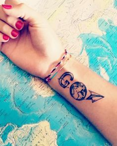 If you have a passion for traveling, there's no better way to make your love permanent than with a cool tattoo of the globe.