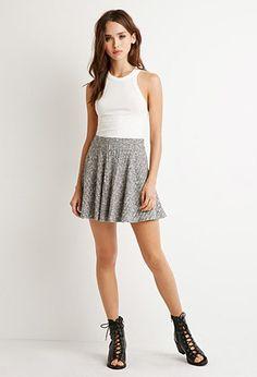 Ribbed Skater Skirt | Forever 21 - 2000154298