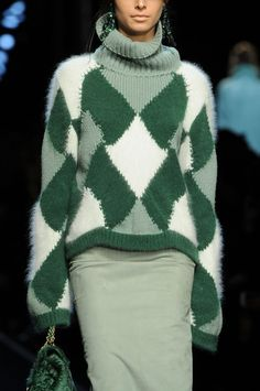 Ermanno Scervino Fall 2014 - Details. Try this look; layer sweater over sweater-dress.