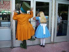 Hatter & Alice wandering around Tonorrowland