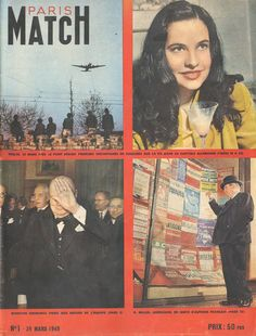 Paris Match (first issue), March 1949 Winston Churchill, Match One, Paris Match, Vintage Magazines, French Vintage, Premier Ministre, Campaign, Cover, Magazine Rack