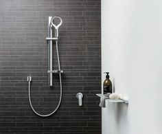 Methven's Aurajet shower is beautiful and powerful. Win one! - The Interiors Addict Shower Head With Hose, Shower Heads, Slide Bar, Steam Showers Bathroom, Bathrooms, Kitchens And Bedrooms, Co Working, Working Hard, Hand Held Shower