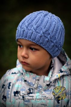 Buy or order the MK description of the hats … – Hair World Baby Boy Knitting Patterns, Baby Hats Knitting, Knitted Hats, Cute Crochet, Knit Crochet, Crochet Hats, Moss Stitch, Mittens Pattern, Knitting Accessories