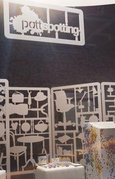 POTTSPOTTING ANALOG-INTERAKTIVER STAND | POP-UP-SHOP : PRINZTRÄGER | Rauminszenierung und Design - Foto: Bande – Für Gestaltung!