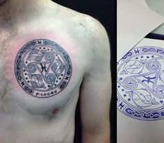 Cool Pisces Tattoos For Men