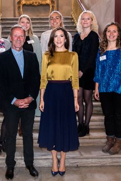 Crown Princess Mary of Denmark hosts a reception at Amalienborg, Frederik VIII Palace on 5 October 2017 for receivers of The Crown Princess Mary Scholarships 2017.