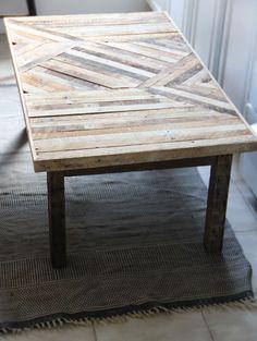 scrap wood table by Ariele Alasko via DesignSponge