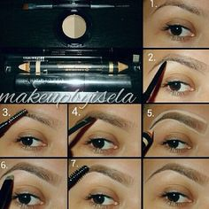 "Eyebrows tutorial anastasia. I love this ladies product. All she makes is eyebrow ""stuff""."