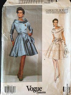 808decf4d4c2 Complete 1992 Carolyne Roehm Designer Vogue cut pattern  2875
