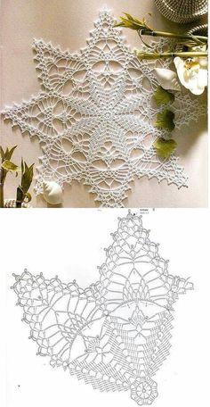 Lovely Crochet Heart Doilies Free Patterns Great for . Filet Crochet, Crochet Motifs, Thread Crochet, Crochet Patterns, Dress Patterns, Knitting Patterns, Crochet Snowflake Pattern, Crochet Stars, Crochet Snowflakes