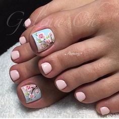 30 New ideas spring pedicure designs cherry blossoms Pedicure Designs, Pedicure Nail Art, Toe Nail Art, Nail Art Designs, Pedicure Ideas, Glitter Pedicure, Toe Nail Designs For Fall, Nails Design, Design Art