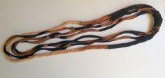 Collar hippie negro degradado de Elbauldelaschuladas en Etsy https://www.etsy.com/es/listing/453264202/collar-hippie-negro-degradado