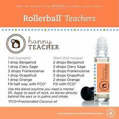 Teachers, keep your energy levels up with a mental lift using pure therapeutic, Essential Oils. Bergamot, Clary Sage, Frankincense, Grapefruit & Wild Orange!!