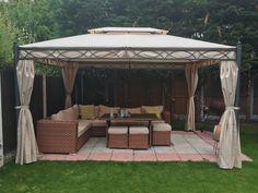 3x4M Metal Gazebo Pavilion Garden Tent Canopy Sun Shade Shelter Marquee Greenbay | eBay
