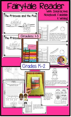 This new 23 page product has a 11 page blackline early reader which is a rewritten mini version of the old tale of The Princess and the Pea. There are also several pages of activities to accompany the reader. Activities with the reader include: A flip-up foldable for interactive notebooks to address problem/solution A sequencing organizer and a sequencing cut/paste Retell writing page Recommendation page for opinion Character sketch for the princess