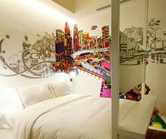 Urban themed room at The New Majestic Hotel, Singapore