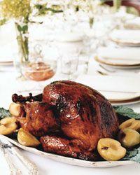 Slow-Smoked Turkey with Cane Syrup-Coffee Glaze // More Holiday Turkey Recipes: http://www.foodandwine.com/slideshows/holiday-turkeys #foodandwine